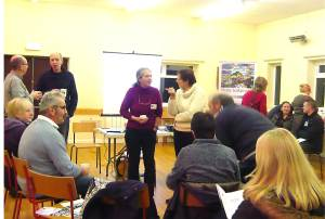 Community meeting to discuss the project, in Mickleby Village Hall