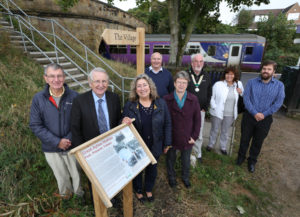 Great Ayton Station unveiling of interpretation board