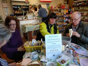 Seed swap Lythe Village Shop
