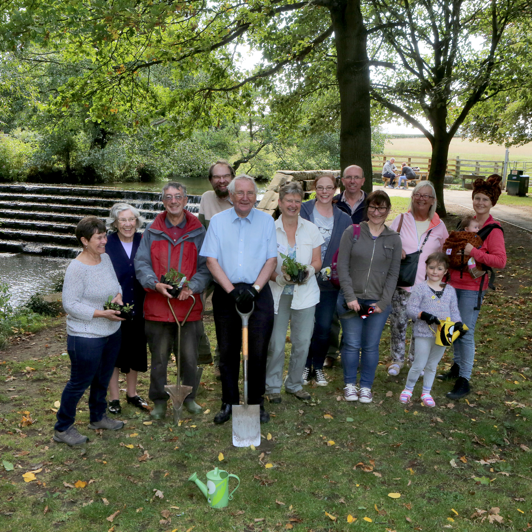 Some of the over 30 helpers Image: Hambleton DC