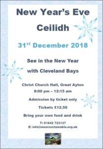 New Years Eve Ceilidh poster 2018 image
